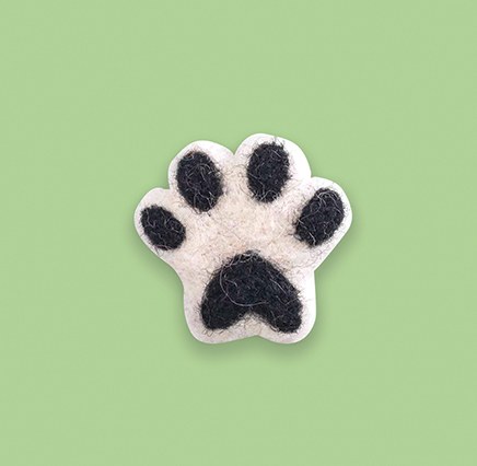Black Paw Brooch