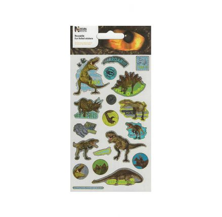 Natural History Dinosaur Foil Stickers