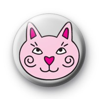 Pink Cat Badge