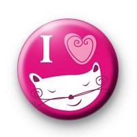 I Love Cats Badge