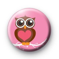 Love You Owl Badge