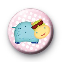 Cool Dude Hippo Badge