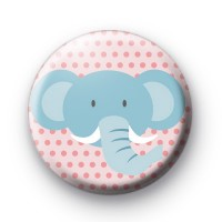 Cute Elephant Badge