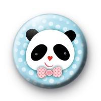 Bow Tie Panda Badge