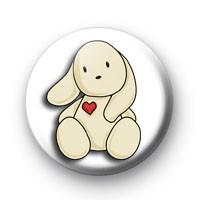 Love Heart Bunny Badge