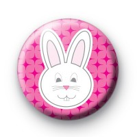 Pink Bunny Badge
