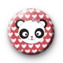 Love Hearts Panda Badge