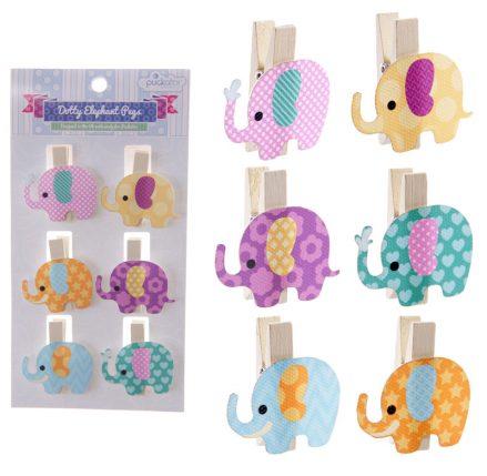 Dotty Elephant Craft Pegs