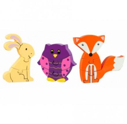 Woodland Animals Puzzle Set
