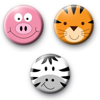 Animal Face Badges