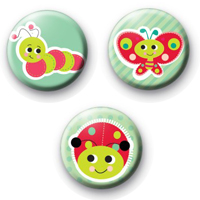 Cute Bugs Badges