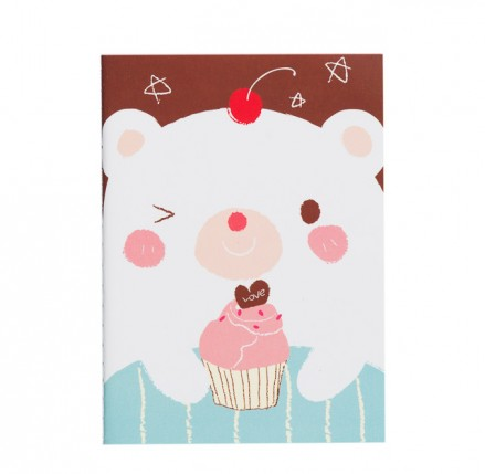 Cream Bear Notebook