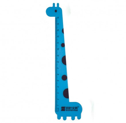 Blue Giraffe Ruler