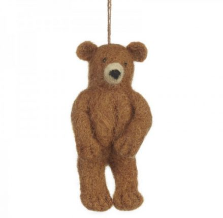 Grizzly Bear Felt Animal - brown standing felt bear