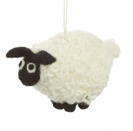 Black and white Felt Sheep