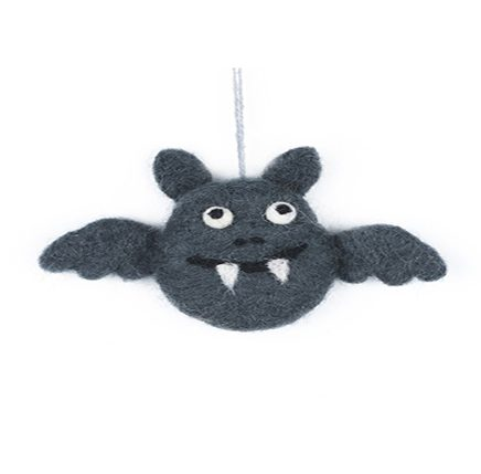 Dark gre bat felt decoration
