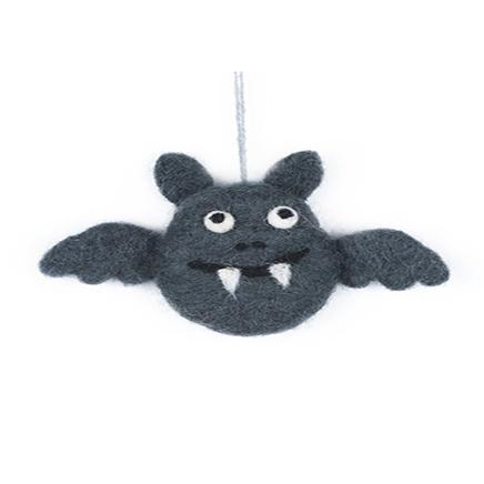 Dark gre bat felt decoration