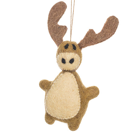 brown and beige felt moose