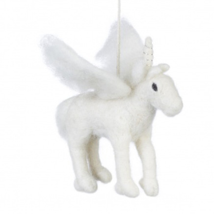 white pegasus felt animal