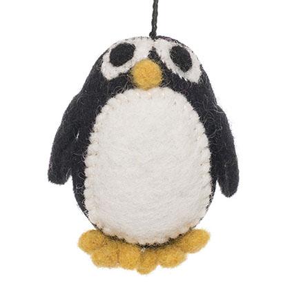 black and white penguin felt animal