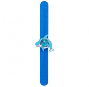 Blue dolphin on blue snapband