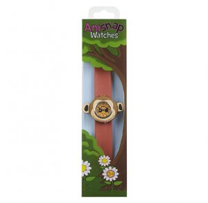 Monkey Watch with brown snapband