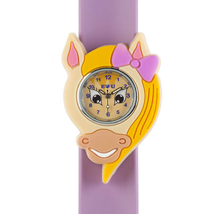 Pony watch on a light purple snapband