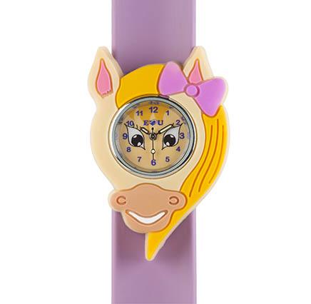 Pony watch on a light purple snapband